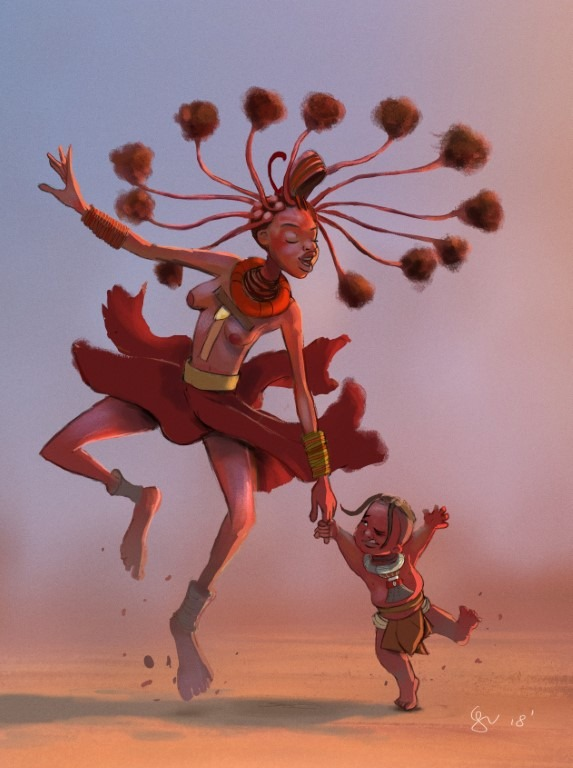 Character design Challenge. African Tribes.